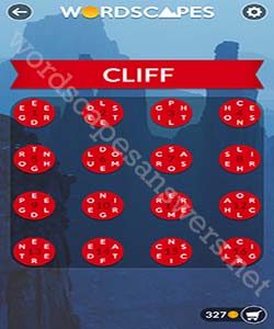 Wordscapes Cliff Answers
