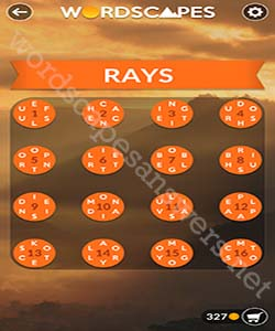 Wordscapes Rays Answers