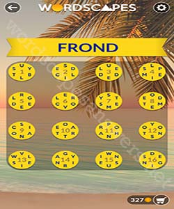 Wordscapes Frond Answers