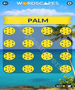 Wordscapes Palm Answers