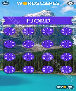 Wordscapes Fjord Answers