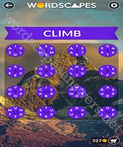 Wordscapes Climb Answers