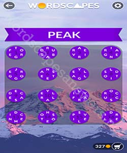 Wordscapes Peak Answers